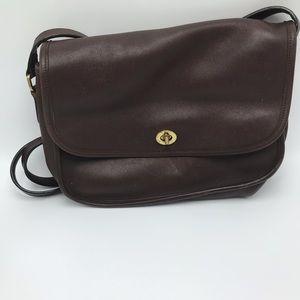 Vintage Coach City Bag Brown Leather Purse